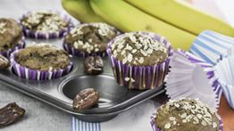 Banana and Carob Muffins