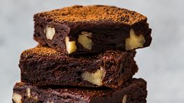 Chocolate Milk and Avocado Holiday Brownies